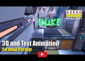 Camera Tracking 3D & Text Animation By Swapnil